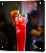 Fresh Watermelon Juice And Vodka Cocktail Drink Acrylic Print