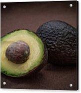 Fresh Whole And Half Avocado Acrylic Print