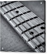 Fret Board In Black And White Acrylic Print