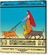 Freya Norse Goddess Acrylic Print by Aloysius Patrimonio