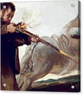 Friar Pedro Shoots El Maragato As His Horse Runs Off Acrylic Print