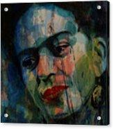 Frida Kahlo Colourful Icon  Acrylic Print