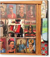 Frida Kahlo Display Picts Acrylic Print