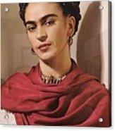 Frida Kahlo Live Acrylic Print