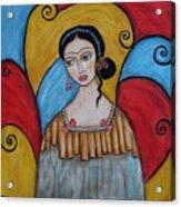 Frida Kahlo Acrylic Print by Rain Ririn