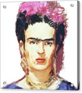 Frida Acrylic Print by Russell Pierce