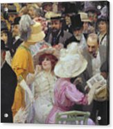 Friday At The French Artists Salon Acrylic Print by Jules Alexandre Grun
