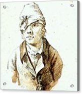 Friedrich Caspar David Self Portrait With Cap And Sighting Eye Shield Acrylic Print