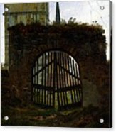 Friedrich Caspar David The Cemetery Gate Acrylic Print