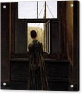 Friedrich Caspar David Woman At A Window Acrylic Print
