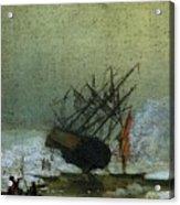Friedrich Caspar David Wreck By The Sea Acrylic Print