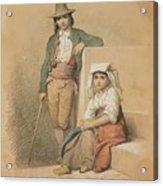 Friedrich Gonne  Two Italian Youths Acrylic Print