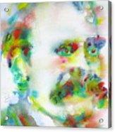 Friedrich Nietzsche - Watercolor Portrait.10 Acrylic Print