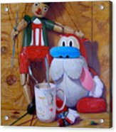 Friends 2  -  Pinocchio And Stimpy   Acrylic Print