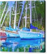 Friends Anchored Acrylic Print