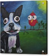 Friends Don't Fly Away Acrylic Print