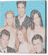 Friends Episode Mosaic Acrylic Print