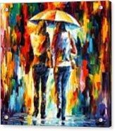 Friends Under The Rain Acrylic Print