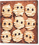 Frightened Mummy Baked Biscuits Acrylic Print