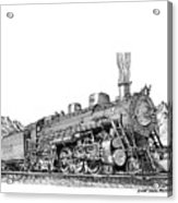 Steam Driven Locomotive Acrylic Print