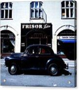 Frisor And Black Car  Copenhagen Denmark Acrylic Print