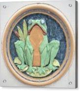 Frog Ceramic Plaque Acrylic Print