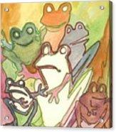 Frog Group Portrait Acrylic Print