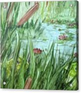Frog Went A-courtin Acrylic Print