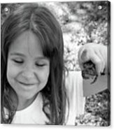Froggy Smiles Acrylic Print