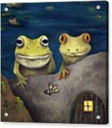 Frogland Detail Acrylic Print