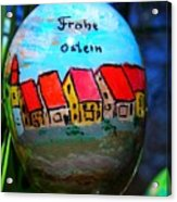 Frohe Ostern Acrylic Print