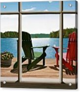 From A Window Acrylic Print