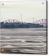 From Cramond To Forth Bridge, Forth Road Bridge, And Forth Crossing Acrylic Print
