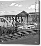 From Old To New In Bedford County Black And White Acrylic Print