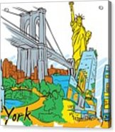 From Old To New York Acrylic Print