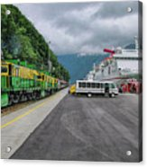 From Ship To Train Acrylic Print