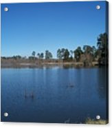 From The Bank Of The Lake In Eunice, Louisiana Acrylic Print