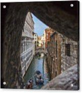 From The Bridge Of Sighs Venice Italy Acrylic Print
