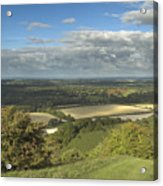 From The Downs To The Weald Acrylic Print