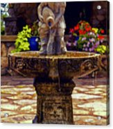 From The Fountain Acrylic Print