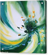 From The Heart Of A Flower Green Acrylic Print
