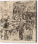From The Jewish Quarter In Amsterdam: Fishmarket On The Street Corner Acrylic Print
