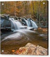 From The Top Brush Creek Falls Acrylic Print