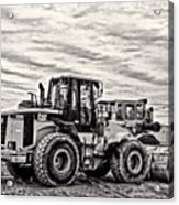 Front End Loader Black And White Acrylic Print