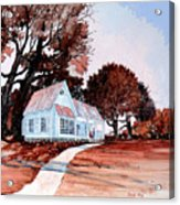 Front Porch Court'n Acrylic Print