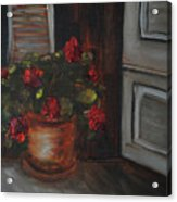 Front Porch Flowers Acrylic Print