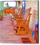 Front Porch On An Old Country House  1 Acrylic Print