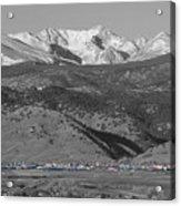 Front Range View North Boulder Colorado Acrylic Print