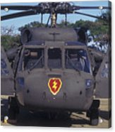 Front View Of An Army Hh-60 Pave Hawk Acrylic Print by Michael Wood