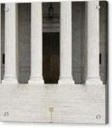 Front View Of The Supreme Court Building Acrylic Print